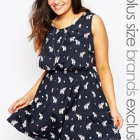 New Look Inspire   New Look Inspire Elephant Waisted Dress at ASOS