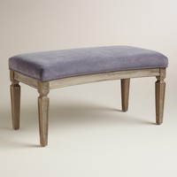 Plum Velvet Paige Curved Bench