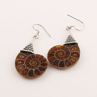 Ammonite Sterling SIlver Earrings
