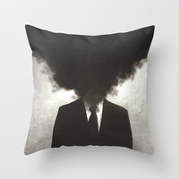 Confessions of a Guilty Mind. Throw Pillow by Carlos Credi