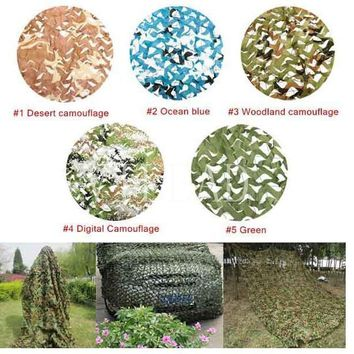 VILEAD 9 Colors 1.5M*7M Army Camouflage Netting Camo net Hiking Tourist for Military Enthusiasts Theme Party Decoration