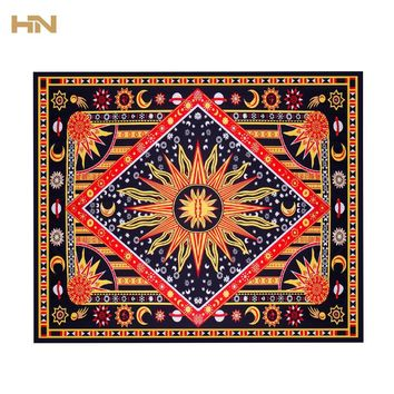 Celestial Sun & Moon Stars Mandala Tapestry Wall Hanging Throw Towel Beach Yoga Mat Decor 175cm Carpet Toalla Mandalas Playa