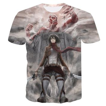 Cool Attack on Titan Japanese Anime Summer T-shirt Tshirt Scouting Legion Clothes No  Tee Shirt  Giant  AT_90_11