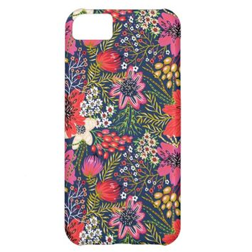 Vintage Bright Floral Pattern Apple iPhone 5C Case
