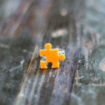 Tangerine Puzzle Mini ring,Plexiglass Jewelry,Lasercut Acrylic,Gifts Under 25