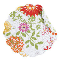 C & F Enterprises Lilly Reversible Round Quilt Placemat (Set of 6)