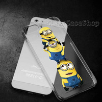 Minions 3 for iphone 4 case, iphone 5 case, samsung s3 case, samsung s4 case cover in clearcaseshop