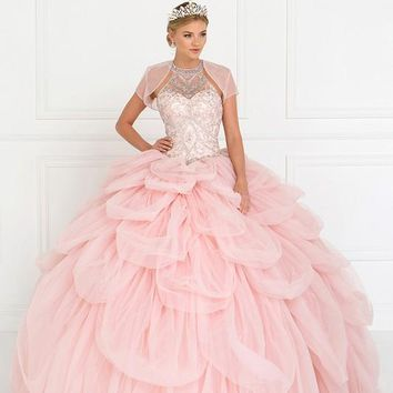 Tulle Halter Ball Gown