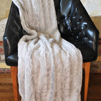 LUXURIOUS MINKY THROW / Soft textured Minky  with Flat minky /  Top of the line Minky fabric /  Holiday season gift idea
