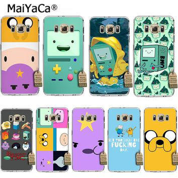 MaiYaCa adventure time cute Beemo BMO Jake Finn Lumpy Phone Case for samsung galaxy s8 s7 edge s6 edge plus s5 s4 s3 case cover