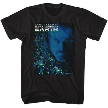 Battlefield Earth Tall T-Shirt Movie Poster Black Tee