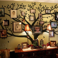 Tree Wall Decals Wall Stickers - Family Tree Wall decal - Photo frame tree decal