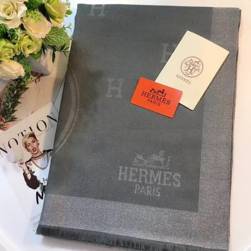 Hermes Women Fashion Wool Warm Scarf Scarves
