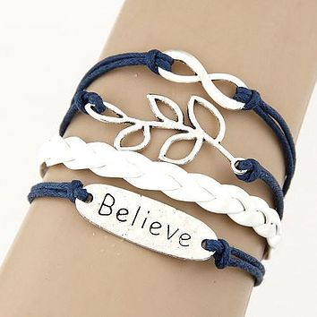 Charm Vintage Multilayer Charm Leather Bracelet
