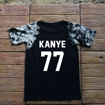 Kanye West Tie dye Shirt Tye Dye Shirt Black Shirt