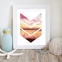 Chevron Photograph Modern Art Printable Beach & Sunset Printable Ocean Photography Coastal Decor Beach Printable Minimal Art Print Digital