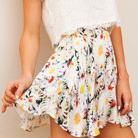 MERCY MEADOWS SKIRT - floral print skater skirt