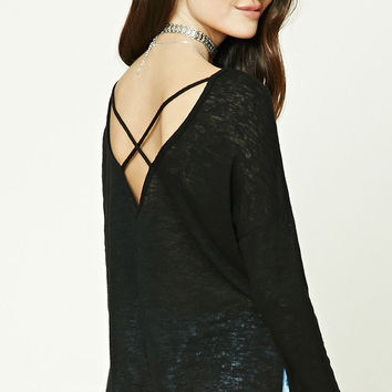High-Low Crisscross Back Top