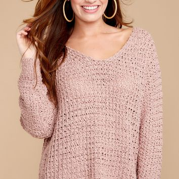 Comes Natural Pink Sweater