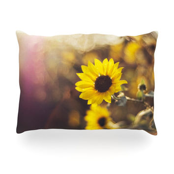 "Libertad Leal ""Magic Light"" Flower Oblong Pillow"