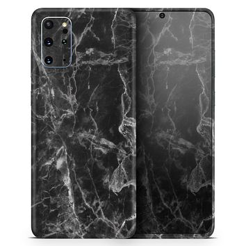 Smooth Black Marble - Skin-Kit for the Samsung Galaxy S-Series S20, S20 Plus, S20 Ultra , S10 & others (All Galaxy Devices Available)