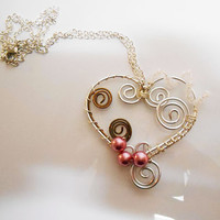Once Upon a time abc heart necklace pendant fairytale silver heart necklace jewelry