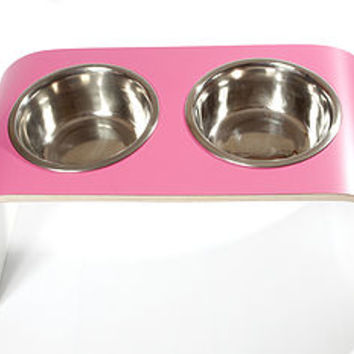 Elevated Designer Dog Bowl Holder