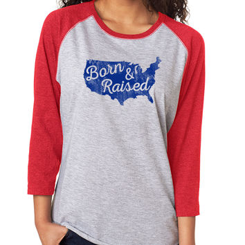 Born & Raised Baseball Tee