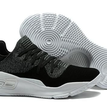 Under Armour Curry 4 Low Black Grey - Beauty Ticks