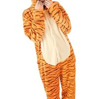 Adult long-sleeved flannel Tigger piece pajamas