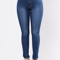 Addicted To A Memory Jeans - Medium Blue