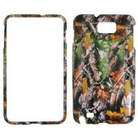 Camo Camouflage Leaves and Branches Hard Case Faceplate Protector Cover Snap On For - Samsung Galaxy Note i9220