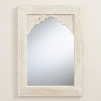 Whitewashed Wood Mirror