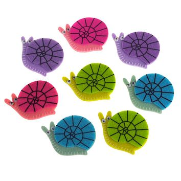 Self-Adhesive Snails Felt Die Cuts, 2-Inch, 8-Count