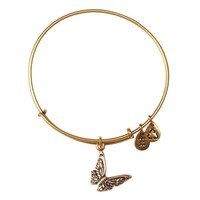Alex and Ani Butterfly Charm Bangle Bracelet - Rafaelian Gold Finish