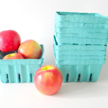 24 qty. Quart Berry Baskets, Berry Till, Biodegradable Paper Pulp Basket, Wedding Favor Basket, Farm Theme Party Favor, Spring Favor Basket