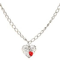 Heart Rib Cage Necklace - 396320