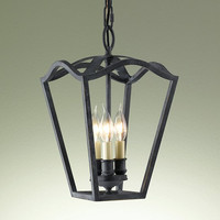 Murray Feiss King'S Table 3 Light Iron Lantern Chandelier - F2324/3AF
