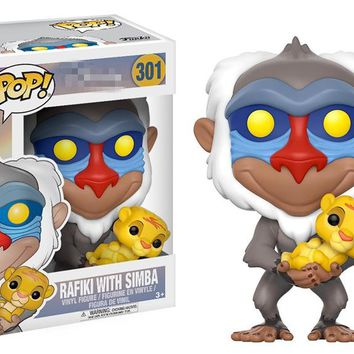 Funko pop official Cartoon The Lion King - Rafiki with Baby Simba Vinyl Action Figure Collectible Model Toy with Original Box