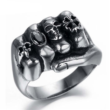 Ghost Era - Skull Fist Ring - Silver