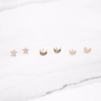 My Moon And Stars Earring Set
