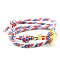 The Gold Anchor Bracelet in Retro USA