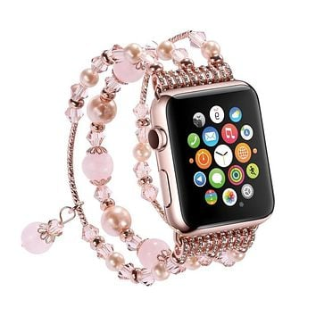 Apple Watch Womens Handmade Beaded Band (6 Variations)