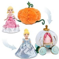 Disney Store Transforming Cinderella Plush Doll and Pumpkin Coach/Carriage Toy Gift Set