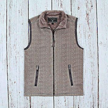 Herringbone Fleece Vest by True Grit