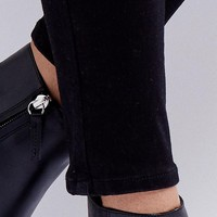 ASOS ESTABLISH Leather Studded Boots at asos.com