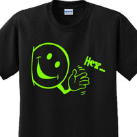 "Smiley face,Hi"" shirt,happy smile face,happy smiley face,happy face waving,smiley face waving hi,funny shirt,humorous tshirt,happy face tee"