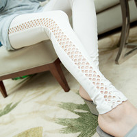 White Side Cutout Leggings Design 326