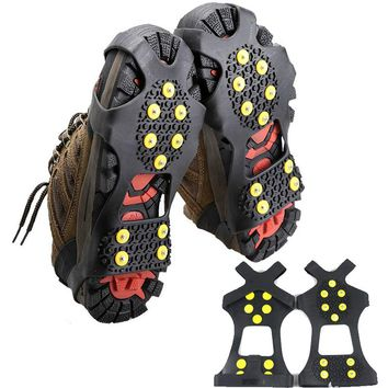 DSstyles Ice Snow Camping Walking Shoes Spike Grip Climbing Ice Crampon Anti-slip Overshoes Spike Grip Winter Outdoor Equipment
