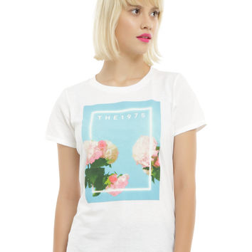 The 1975 Flowers Logo Girls T-Shirt